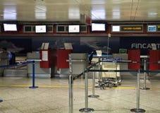 Aéroport de Gênes fermé Images stock