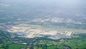 Aéroport de Gatwick, vue aérienne Photo libre de droits