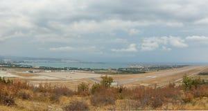 Aéroport de Gelendzhik de panorama Photo libre de droits