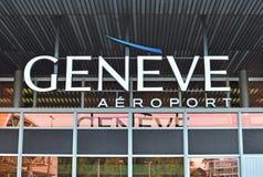 Aéroport de Genève Images libres de droits