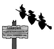 Aéroport de Halloween Images libres de droits