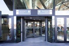 Aéroport de Hambourg d'entrée Photographie stock