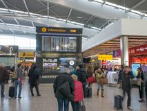 Aéroport de Heathrow à Londres, terminal 5 Image libre de droits