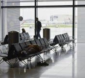 Aéroport de Heathrow - terminal 2 Photos stock