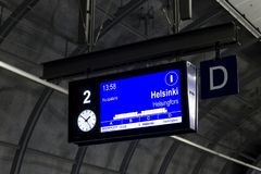 Aéroport de Helsinki, Finlande Photo stock