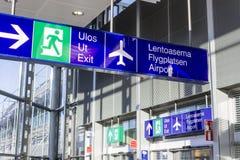 Aéroport de Helsinki, Finlande Photo libre de droits