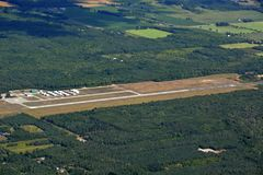 Aéroport de Huronia, antenne d'Ontario Image stock
