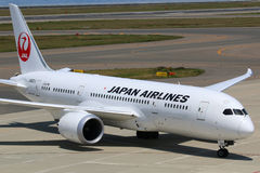 Aéroport de Japan Airlines Boeing 787 Dreamliner Nagoya Photographie stock