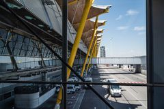 Aéroport de Jetway Madrid Barajas Image libre de droits