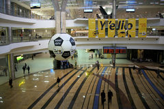 Aéroport de Johannesburg, les 2101 football/monde du football Photo stock