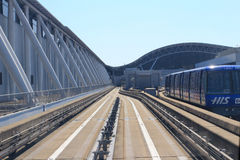 Aéroport de Kansai de vue de train hors de train Photos libres de droits