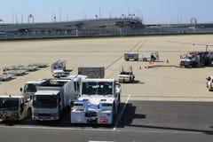 Aéroport de Kansai de vue de train hors de train Images stock