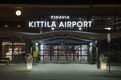Aéroport de Kittila, Laponie, Finlande Photo libre de droits