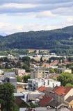 Aéroport de Klagenfurt d'église de St Egyd Images libres de droits