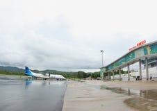 Aéroport de Komodo, Labuan Bajo Images stock