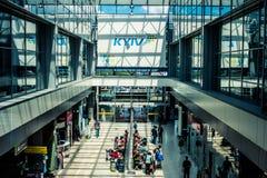 Aéroport de Kyiv Zhulyany à l'intérieur Photo libre de droits