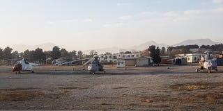 Aéroport de l'Afghanistan en décembre 2017 Image stock