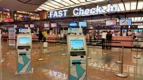 Aéroport de l'Asie Singapour Changi Photos libres de droits