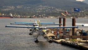Aéroport de l'eau de port de Vancouver Images libres de droits