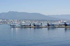 Aéroport de l'eau de port de Vancouver Image stock