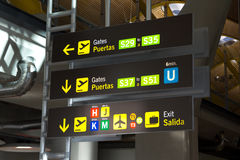 Aéroport de l'Espagne Photo stock