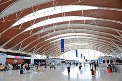 Aéroport de la Chine Changhaï Pudong Images libres de droits
