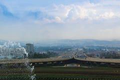 Aéroport de la Chine Kunming en dehors du paysage Photos stock
