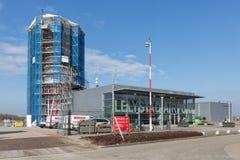 Aéroport de Lelystad de tour de contrôle en construction Photos stock