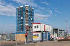 Aéroport de Lelystad de tour de contrôle en construction Photo libre de droits