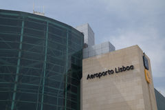 Aéroport de Lisbonne, Portugal Photo libre de droits