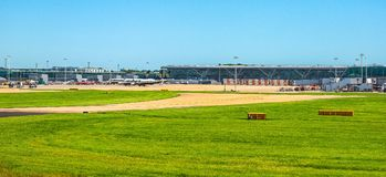 Aéroport de Londres Stansted (hdr) Photographie stock libre de droits