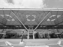 Aéroport de Londres Stansted noir et blanc Image libre de droits