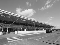 Aéroport de Londres Stansted noir et blanc Image stock