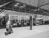 Aéroport de Londres Stansted noir et blanc Photographie stock libre de droits