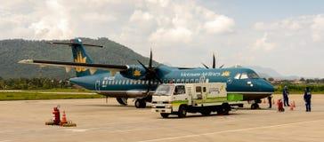 Aéroport de Luang Probang, Laos Photos stock
