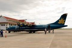 Aéroport de Luang Probang, Laos Images stock