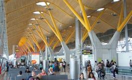 Aéroport de Madrid Barajas Photos libres de droits
