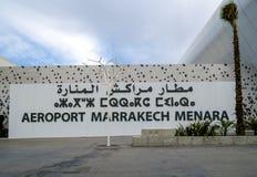 Aéroport de Marrakech Menara au Maroc Photos libres de droits