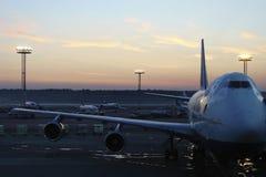 Aéroport de matin Photos stock