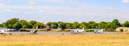 Aéroport de Maun, Botswana Photos stock