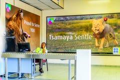 Aéroport de Maun, Botswana Photographie stock libre de droits