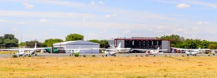 Aéroport de Maun, Botswana Photos libres de droits