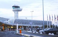 Aéroport de Merignac de Bordeaux, l'Aquitaine, France Photographie stock libre de droits