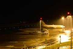 Aéroport de Miguel de sao la nuit Images libres de droits