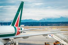 Aéroport de Milan Malpensa Images stock