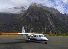 Aéroport de Milford Sound Photo stock