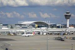 Aéroport de Munich, Bavière, Allemagne Images libres de droits