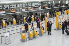 Aéroport de Munich, hall de départ dans le terminal 2 Images libres de droits