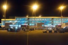 Aéroport de nuit Photographie stock