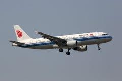 Aéroport de Pékin d'avion d'Air China Airbus A320 Images stock